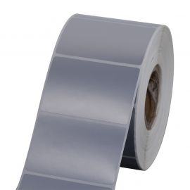 Polyester labels Silver for (GK420T, GX420T, ZT220T, B-ev4t, GC420T, TTP-247 )-BYPOS-7002