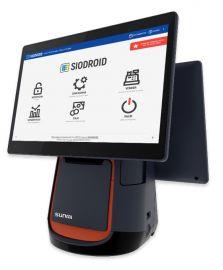 Sunmi T2 Mono, 38.1 cm (15.6''), Printer, Back display. Android, Siodroid, black